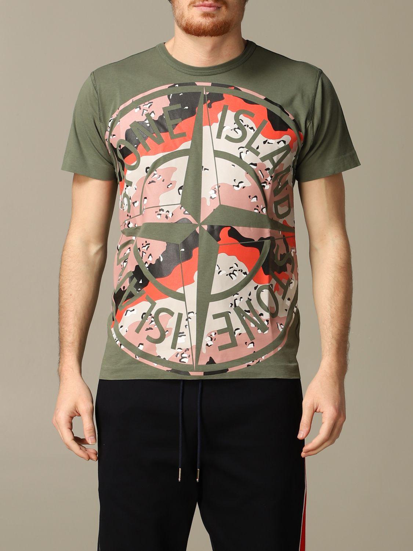 T恤 男士 Stone Island 橄榄绿 1