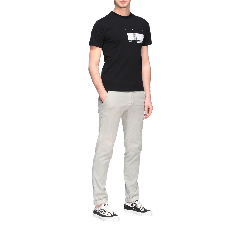 T-shirt Stone Island a maniche corte con stampa nero 2