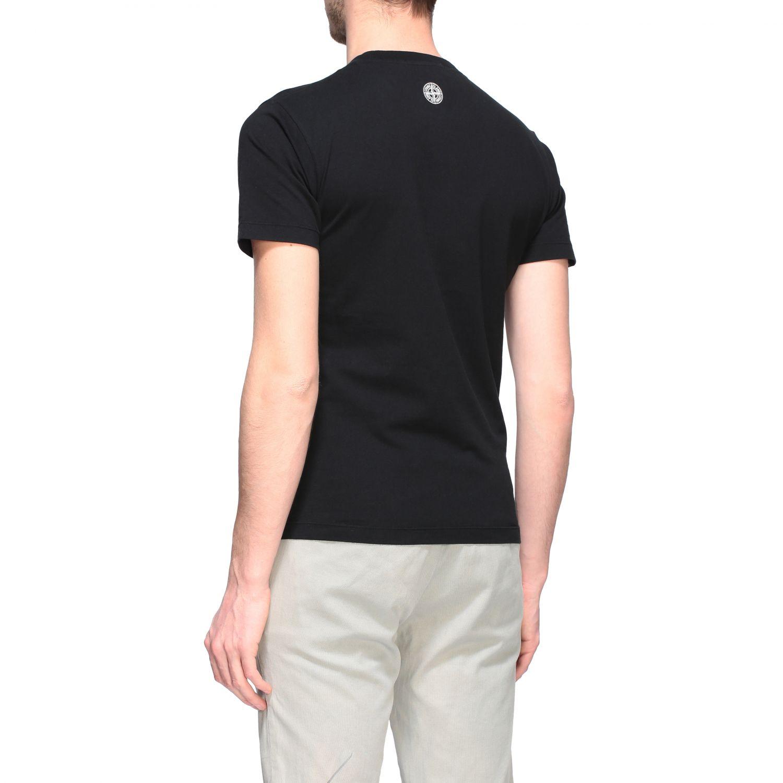 T-shirt Stone Island a maniche corte con stampa nero 3