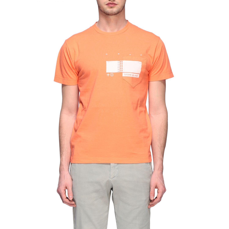 T-shirt men Stone Island orange 1