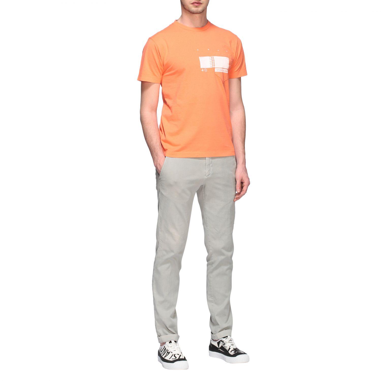 T-shirt men Stone Island orange 2