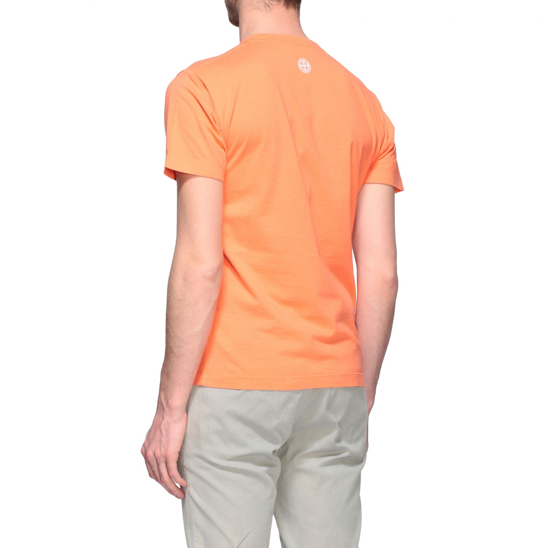 T-shirt men Stone Island orange 3