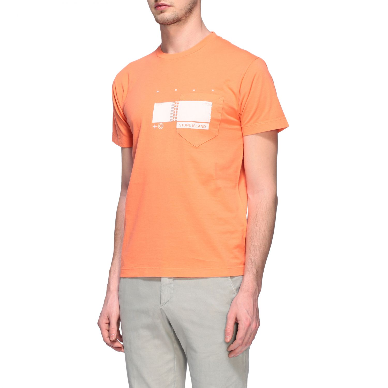T-shirt men Stone Island orange 4