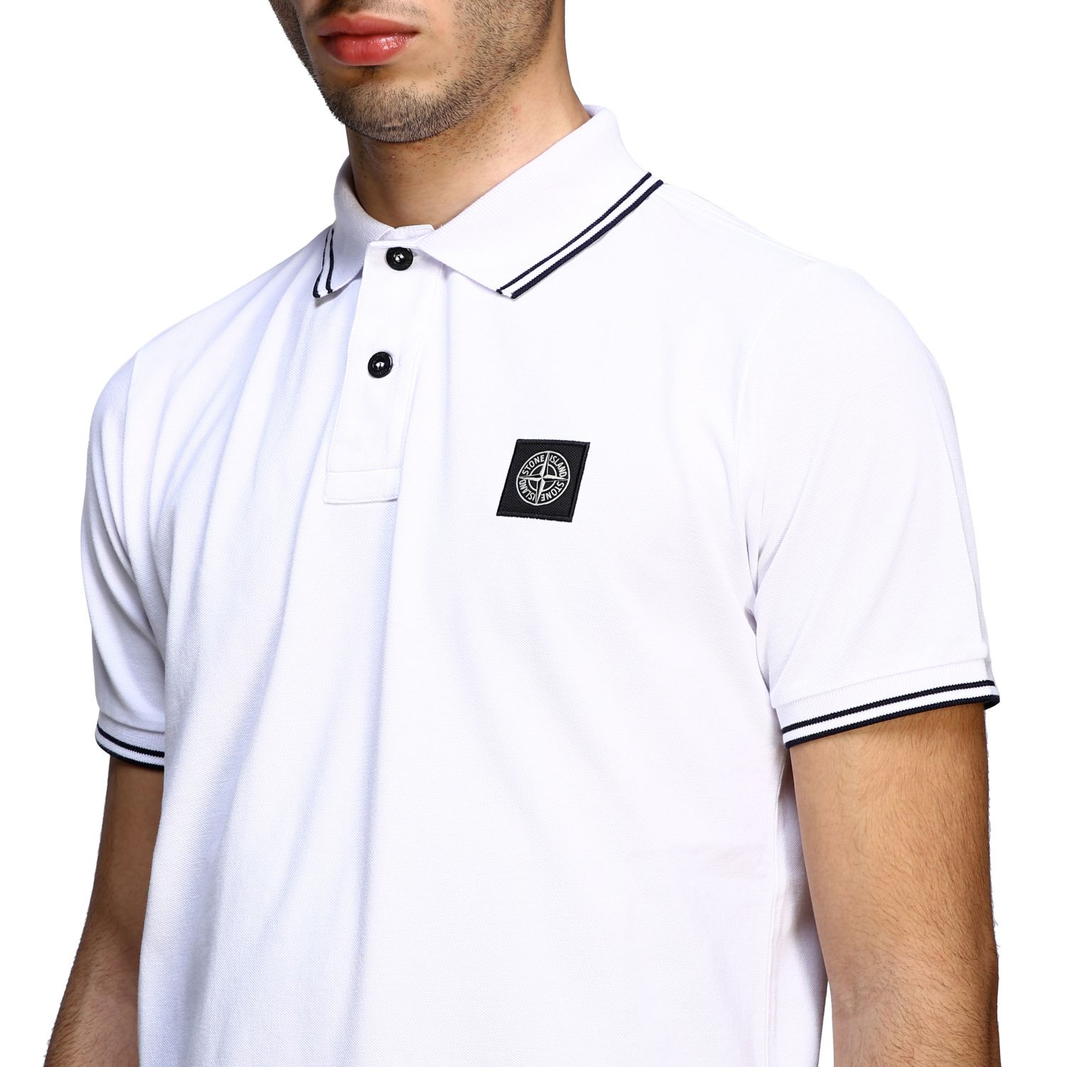 T-shirt men Stone Island white 5