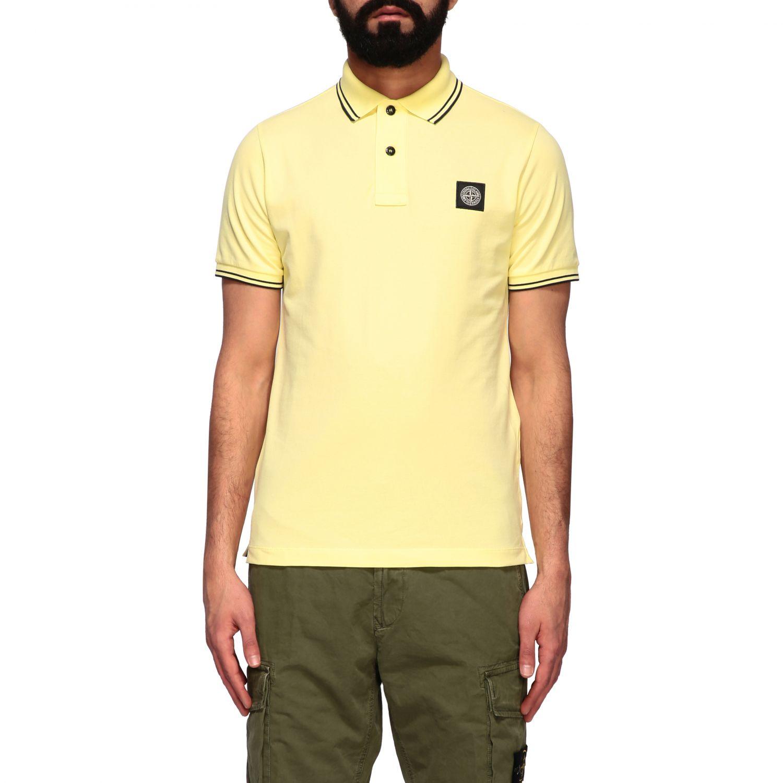 T-shirt men Stone Island yellow 1