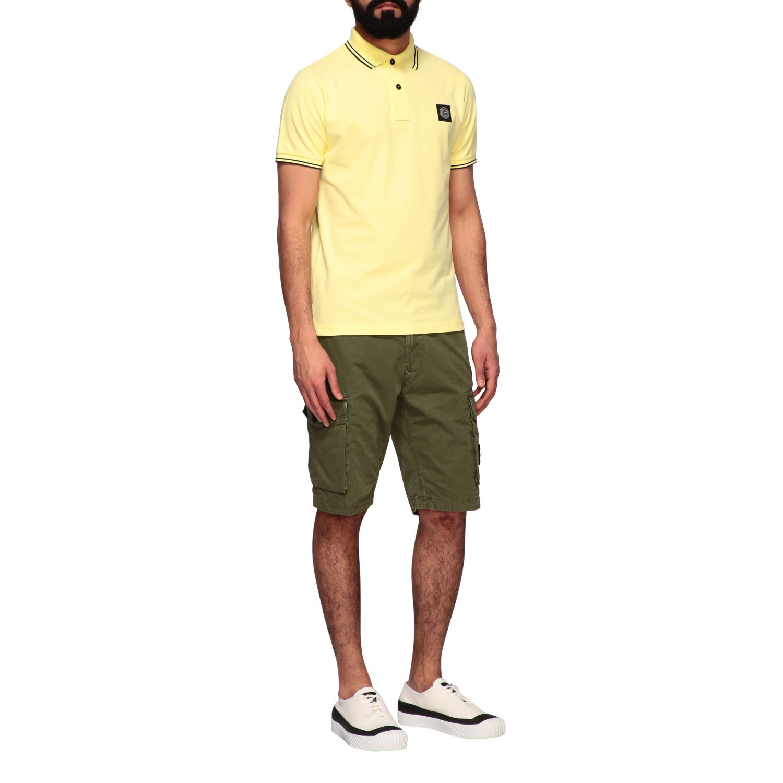 T-shirt men Stone Island yellow 2