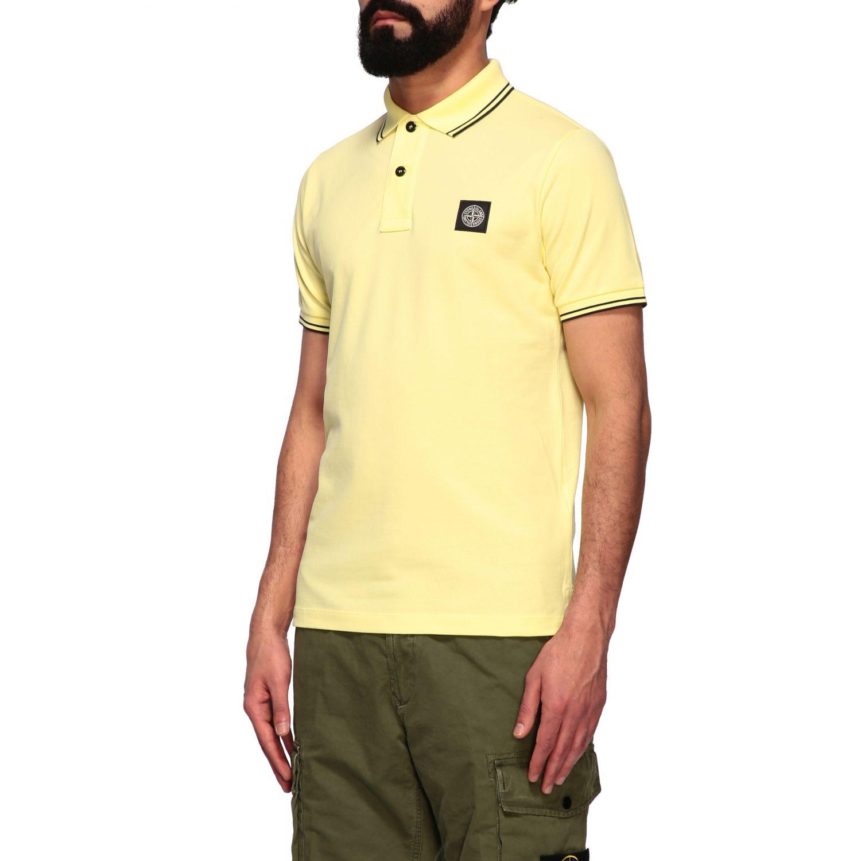 T-shirt men Stone Island yellow 4