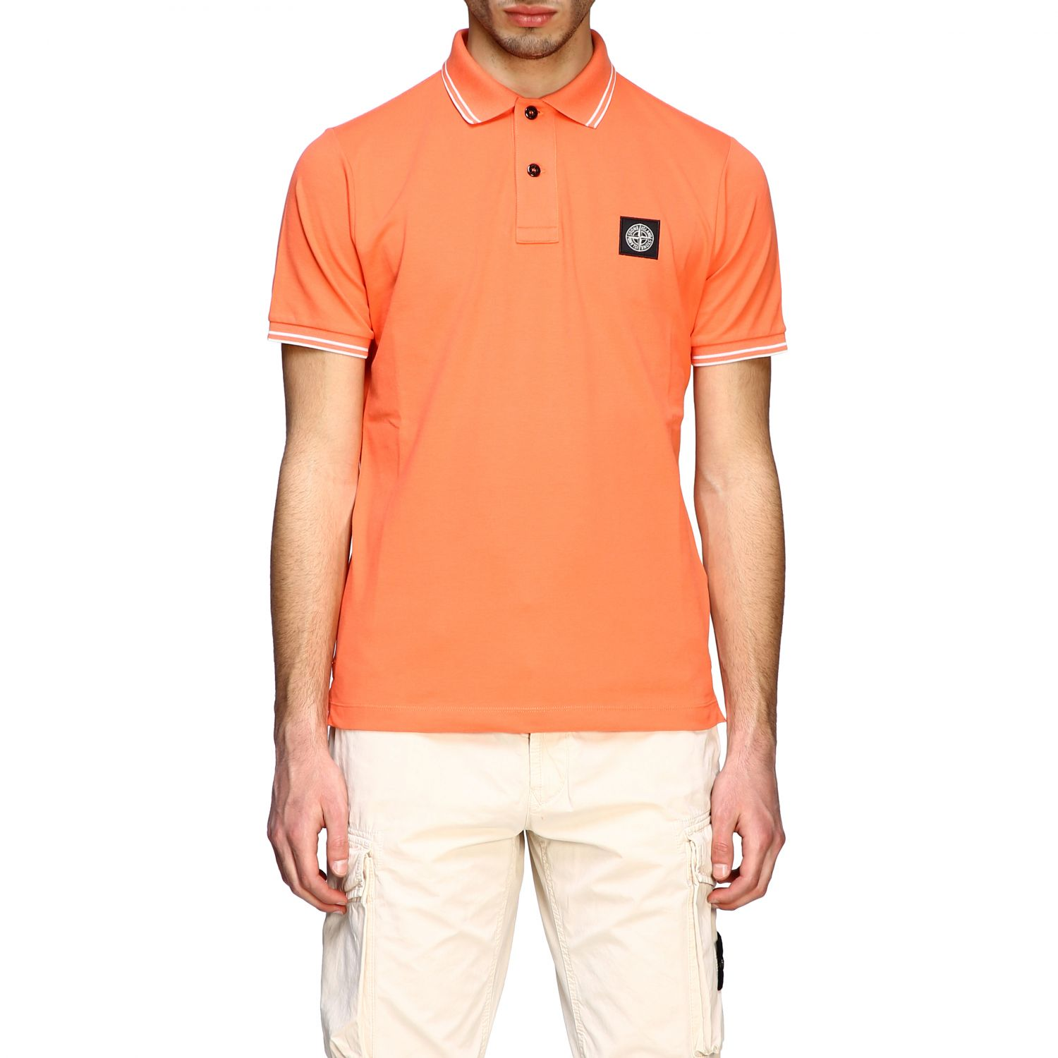T-shirt men Stone Island orange 1