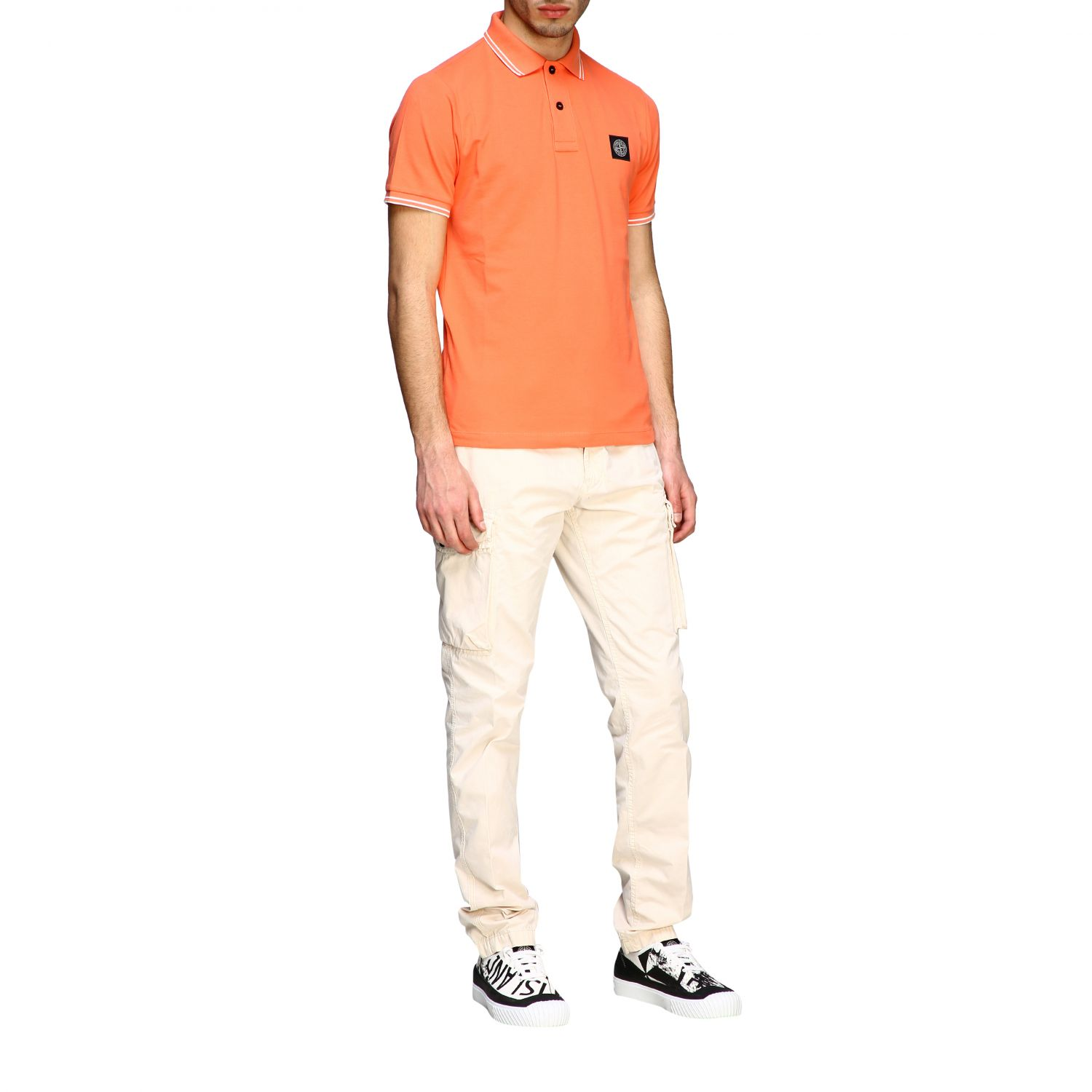 T-shirt men Stone Island orange 2