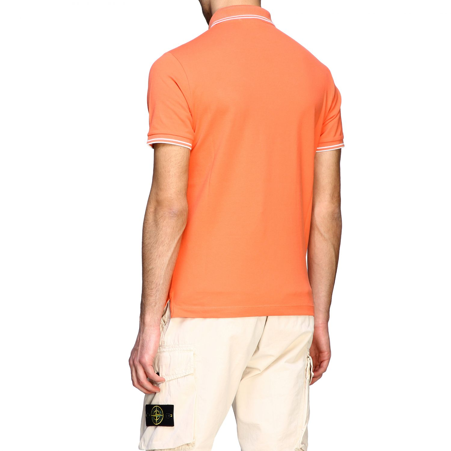 T-shirt men Stone Island orange 3
