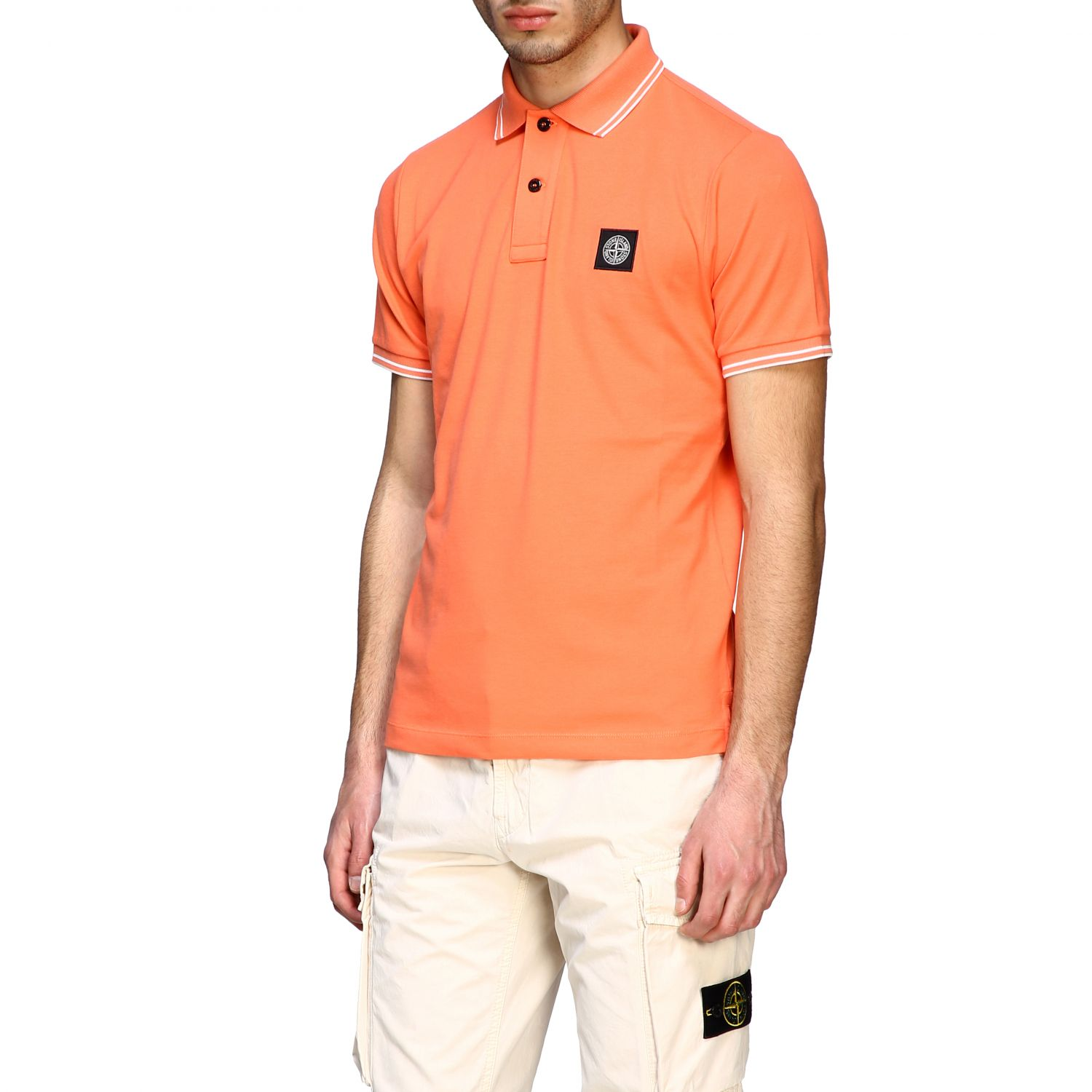 T-shirt men Stone Island orange 4