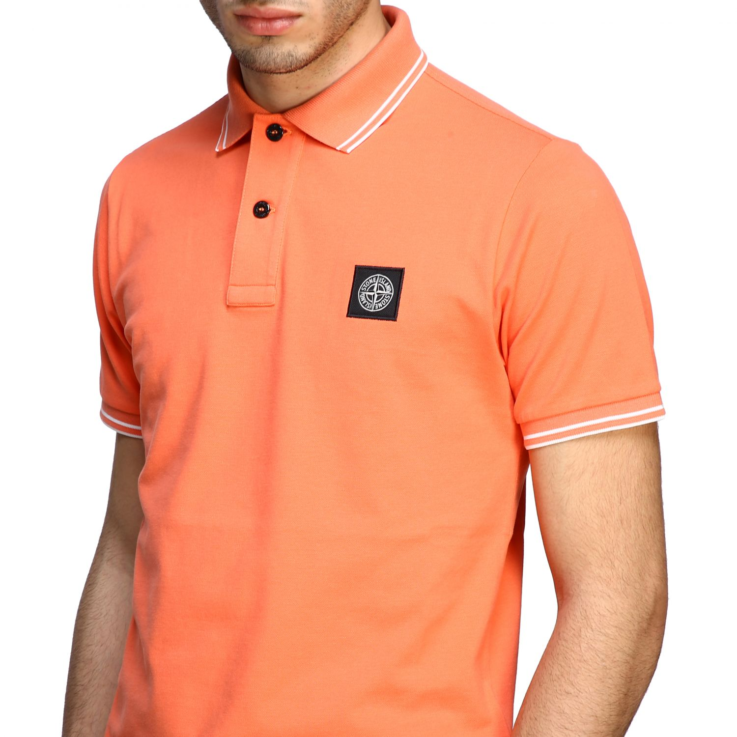 T-shirt men Stone Island orange 5