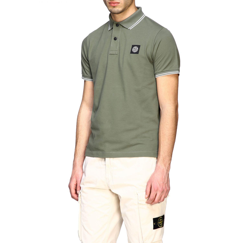 T-shirt men Stone Island olive 4