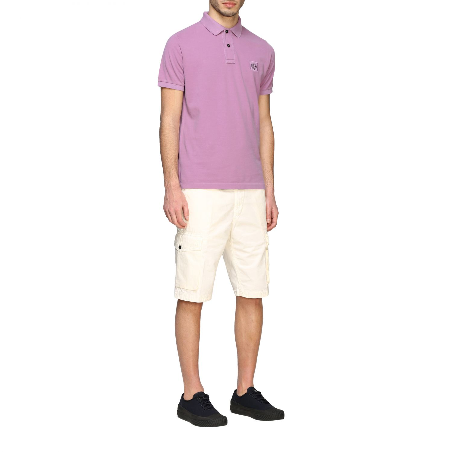 Stone Island short-sleeved polo shirt pink 2
