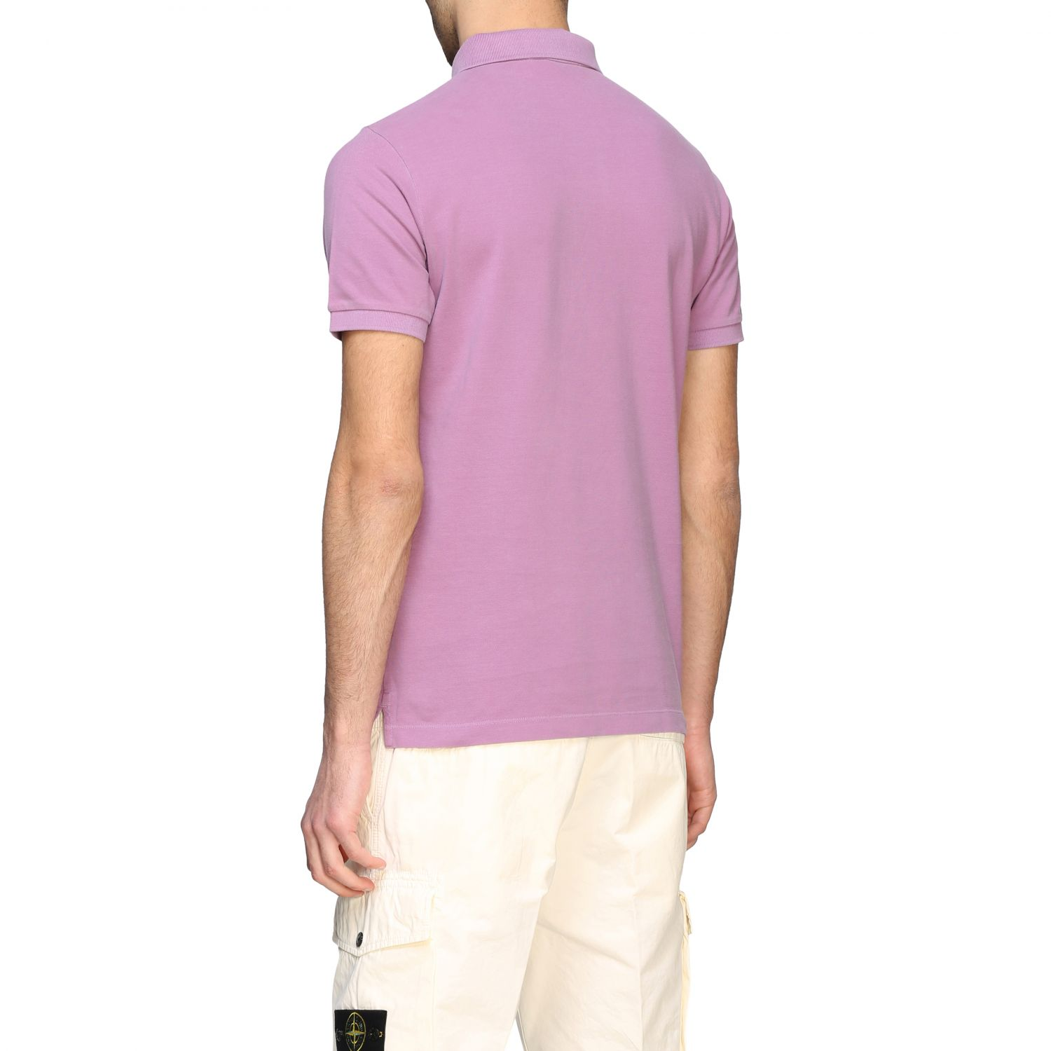 Stone Island short-sleeved polo shirt pink 3