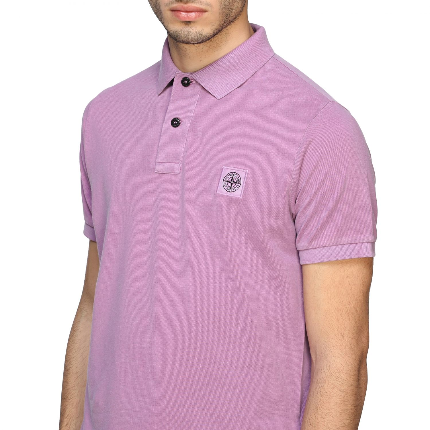 Stone Island short-sleeved polo shirt pink 5