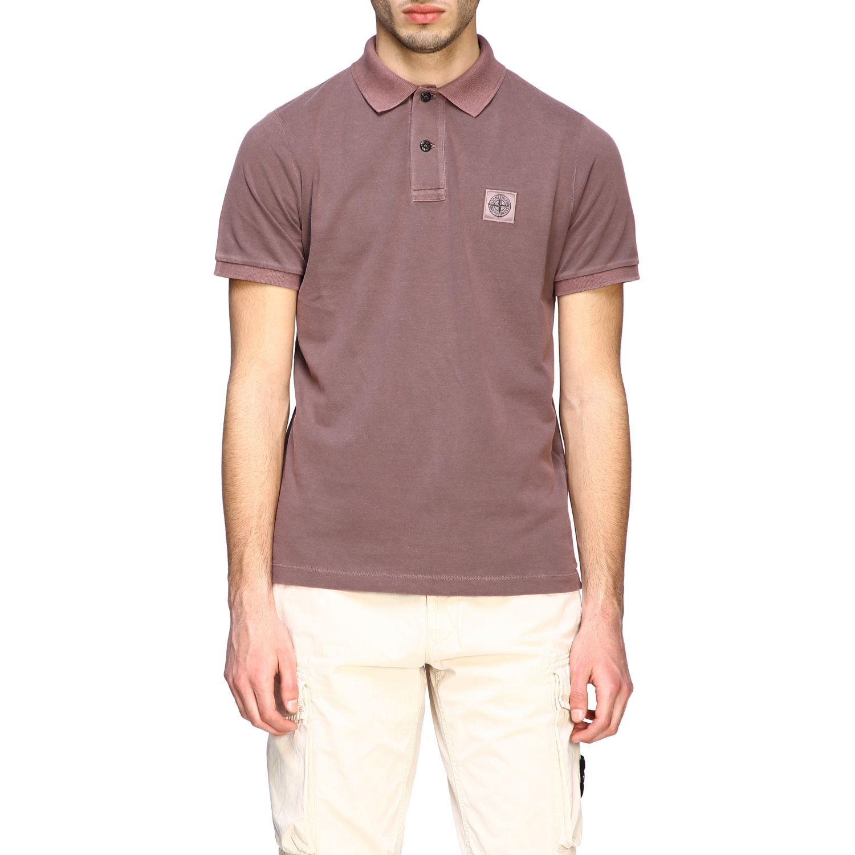 Stone Island short-sleeved polo shirt brown 1