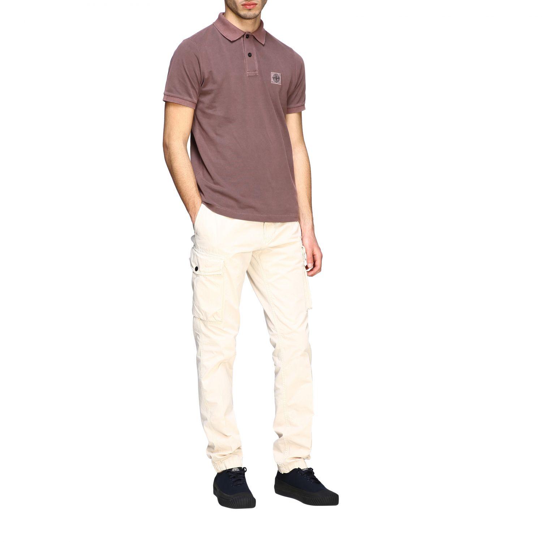 Stone Island short-sleeved polo shirt brown 2