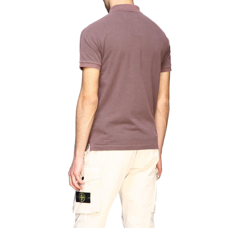 Stone Island short-sleeved polo shirt brown 3