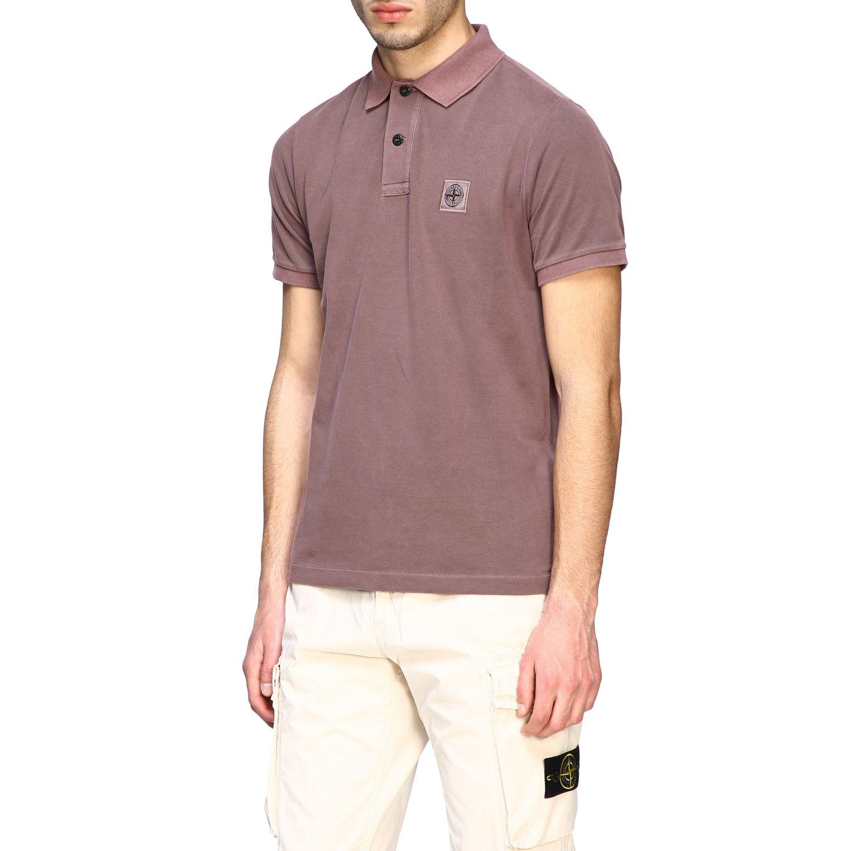 Stone Island short-sleeved polo shirt brown 4