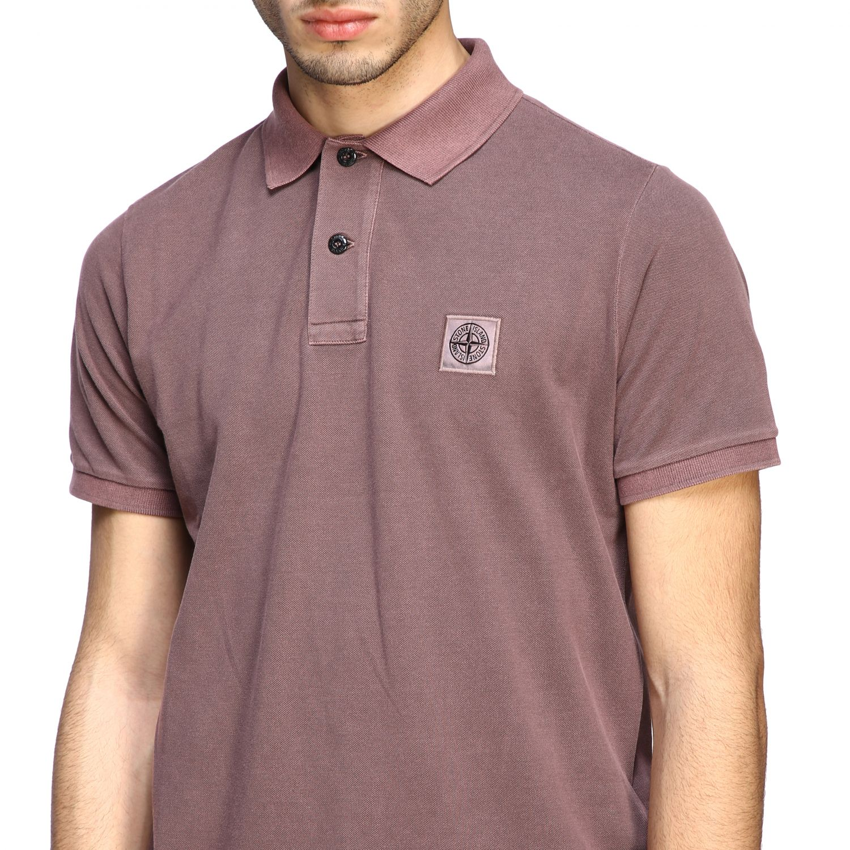 Stone Island short-sleeved polo shirt brown 5