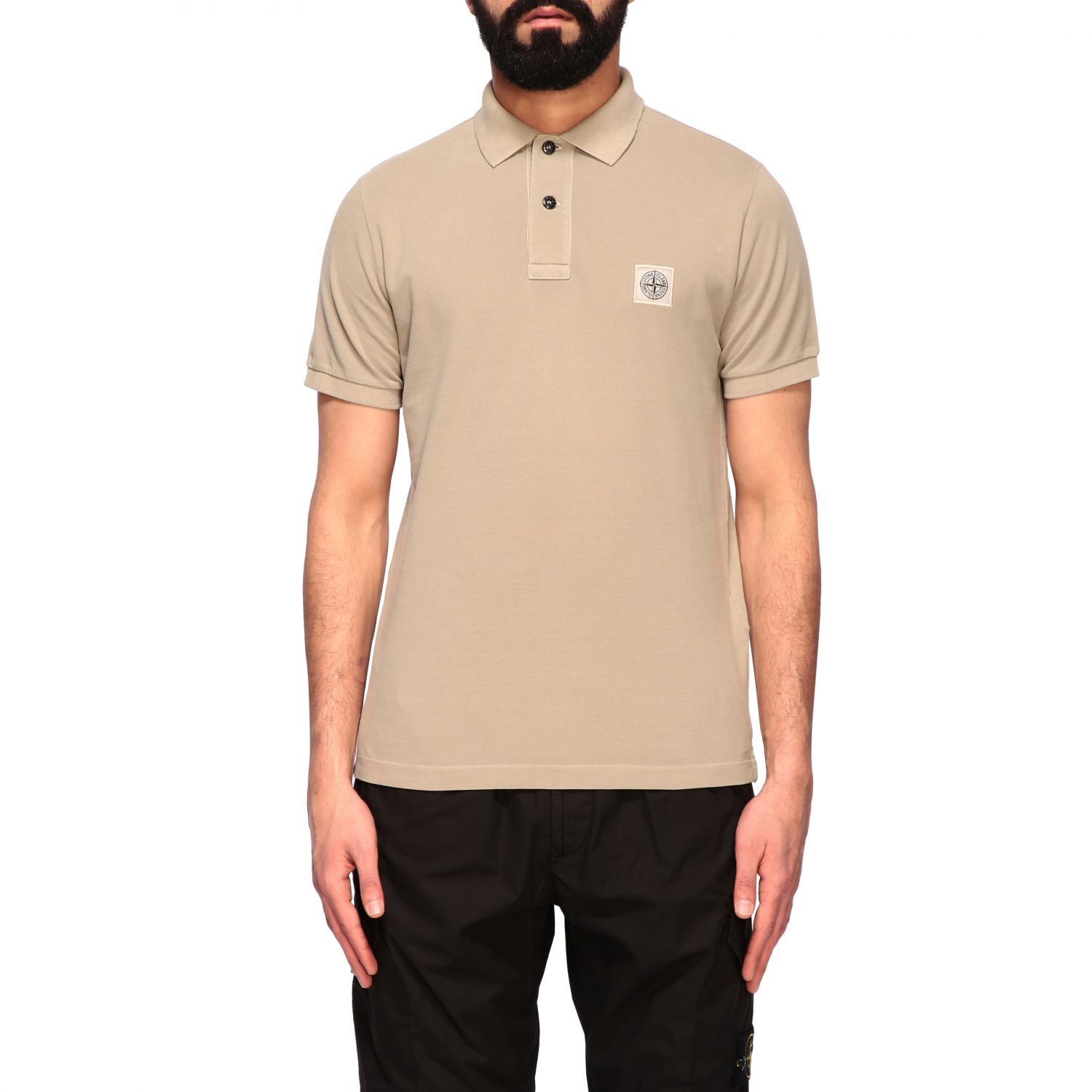 Stone Island short-sleeved polo shirt burnt 1