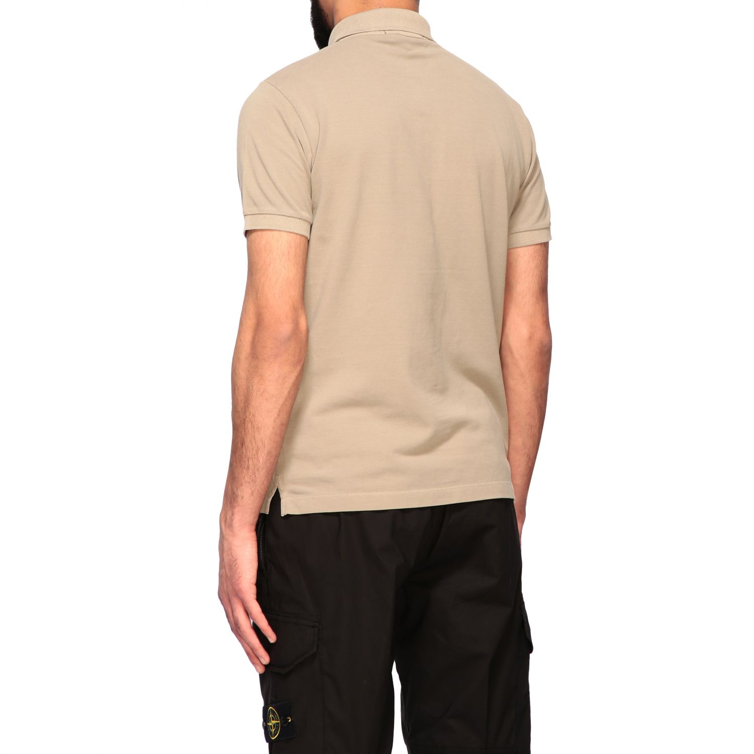 Stone Island short-sleeved polo shirt burnt 3