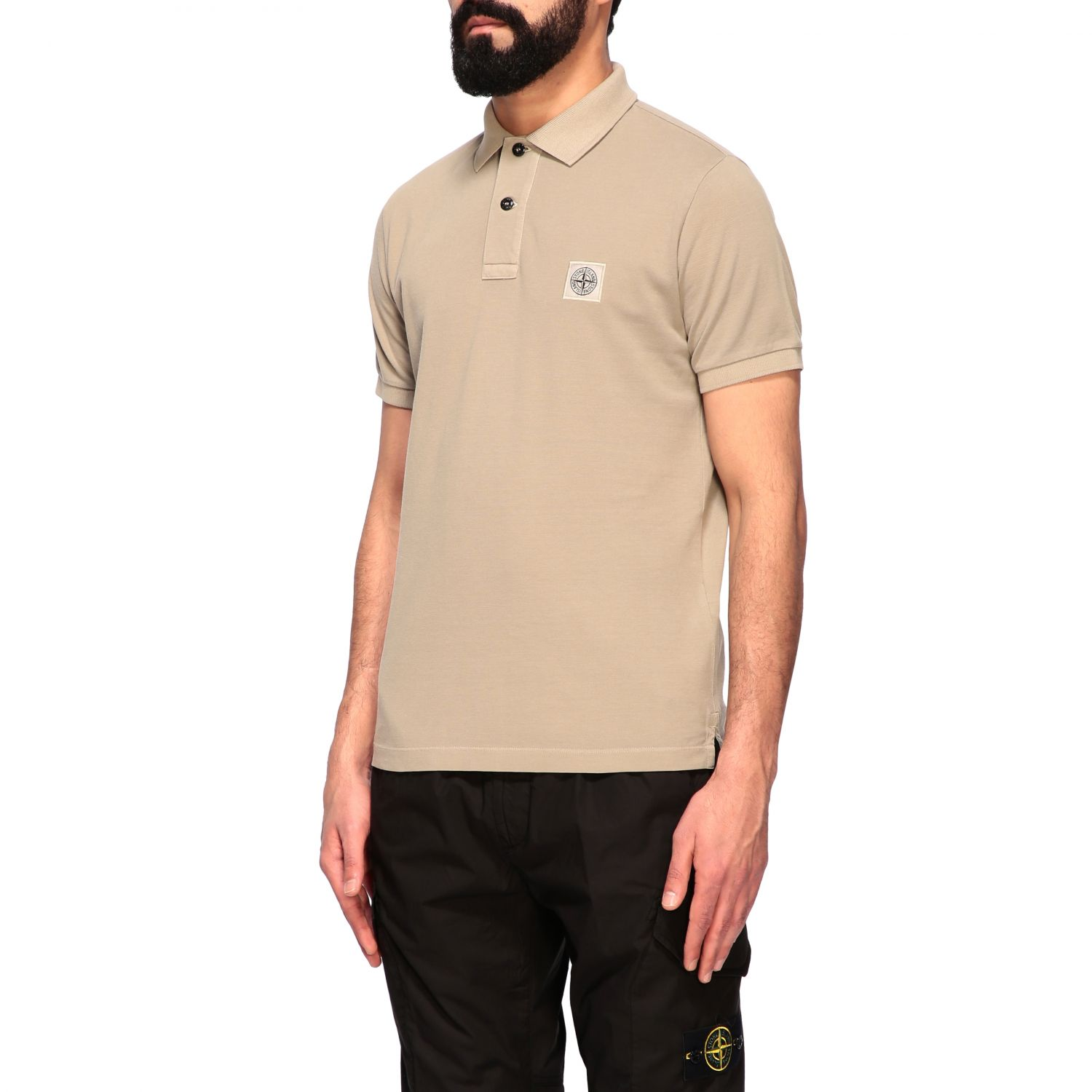 Stone Island short-sleeved polo shirt burnt 4
