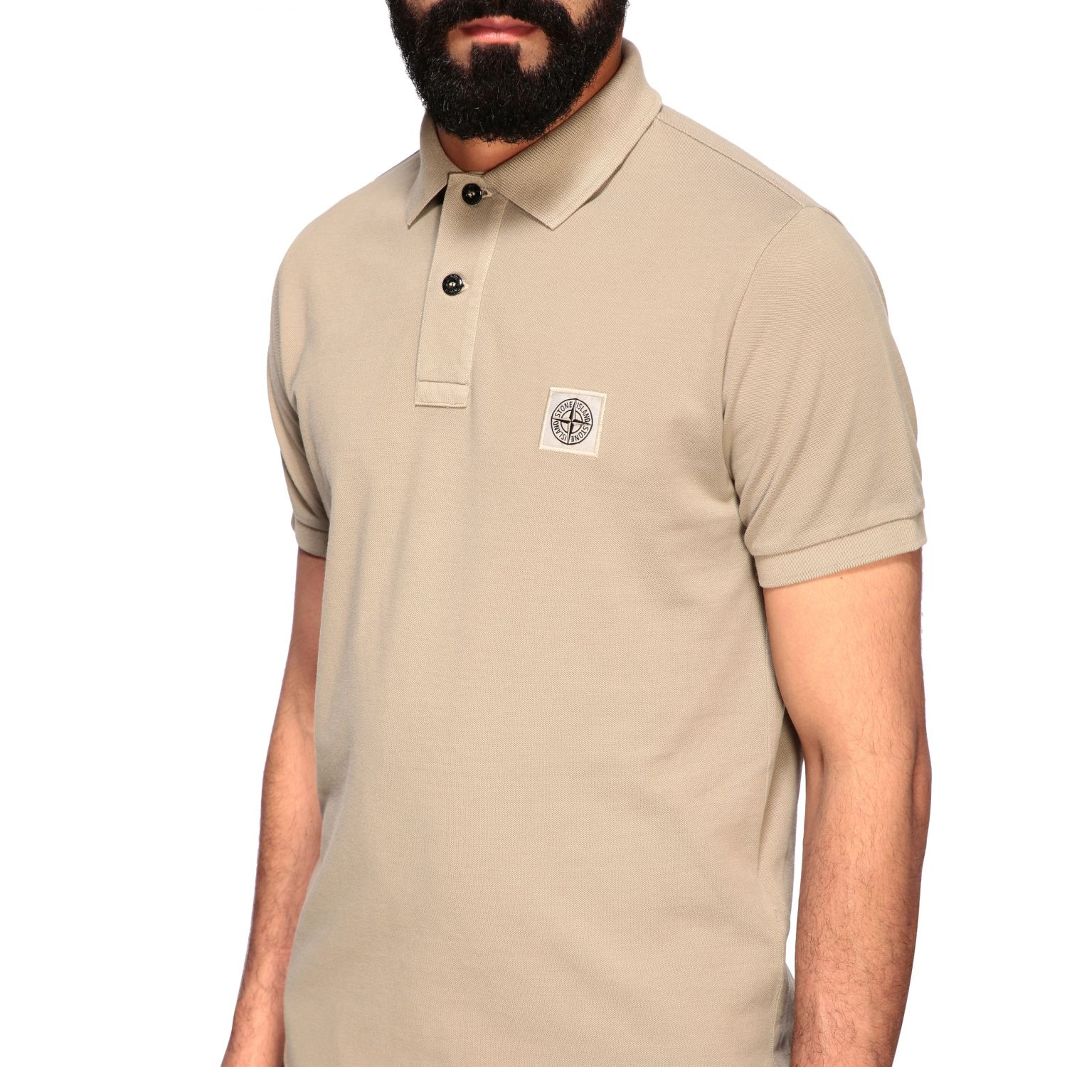 Stone Island short-sleeved polo shirt burnt 5