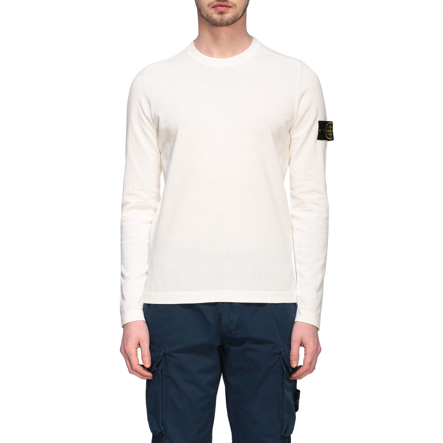 Pullover Stone Island: Pullover herren Stone Island ivory 1