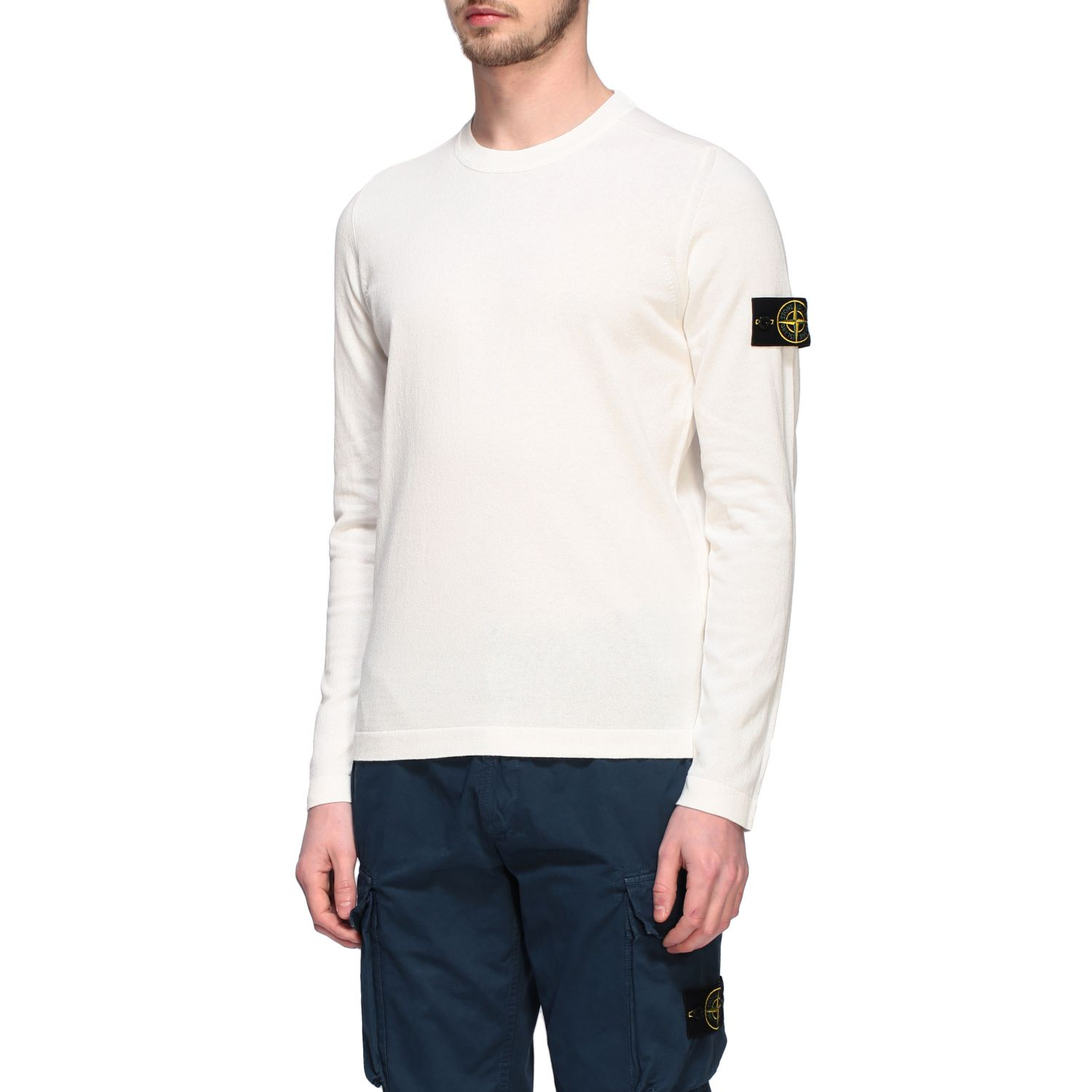Pullover Stone Island: Pullover herren Stone Island ivory 4