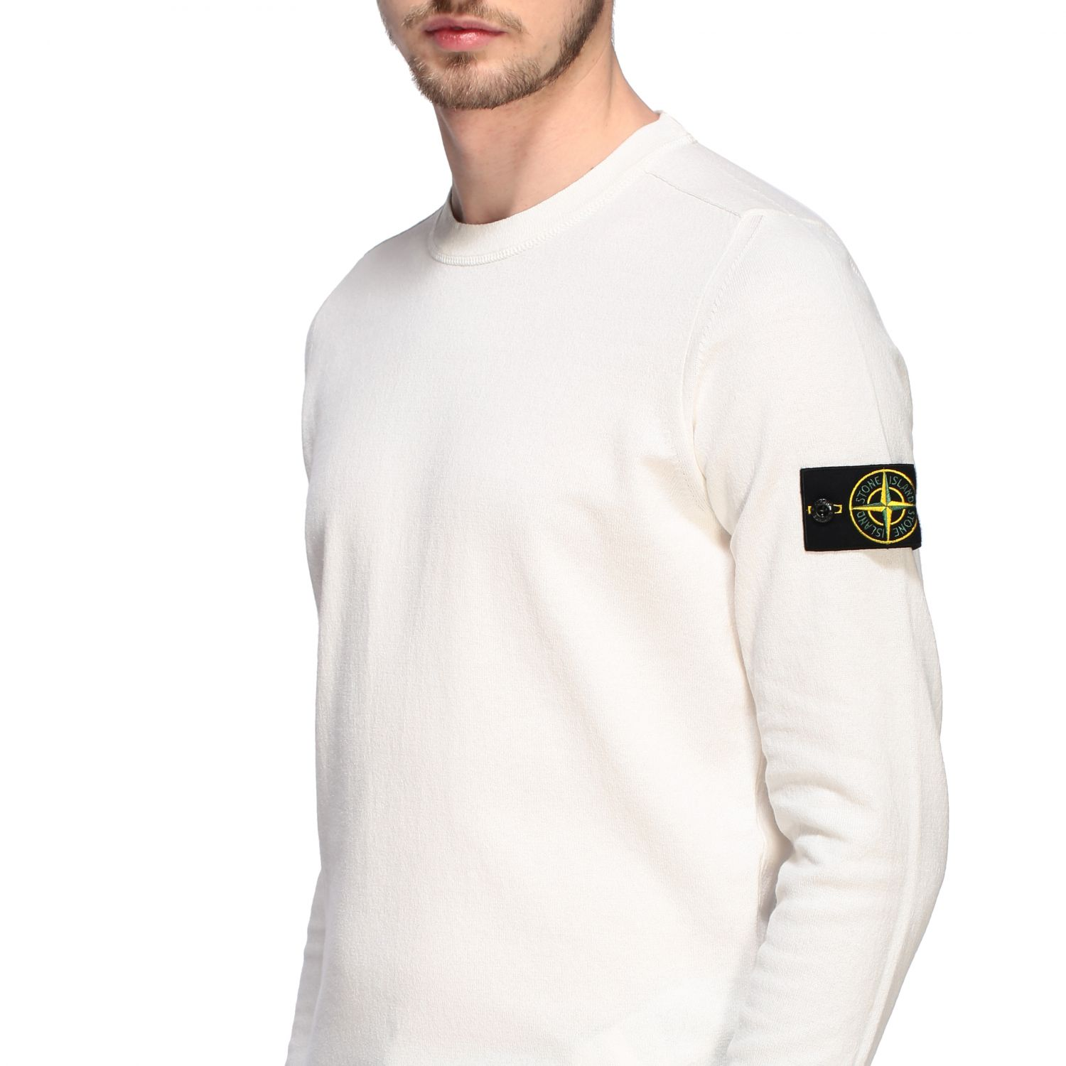 Pullover Stone Island: Pullover herren Stone Island ivory 5