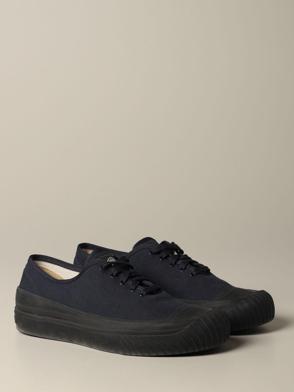 Baskets Stone Island: Sneakers Stone Island en toile bleu 2