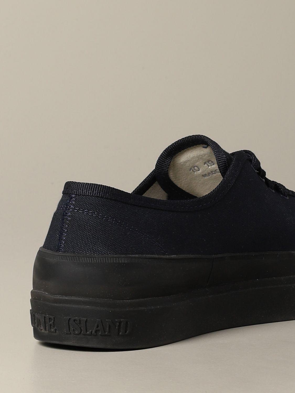 Baskets Stone Island: Sneakers Stone Island en toile bleu 5