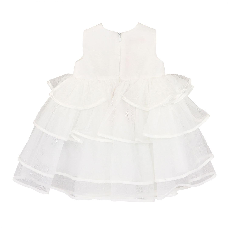 Miss Blumarine Kleid aus Tüll mit Strass Steinen