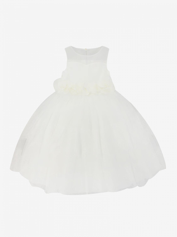 Dress kids Miss Blumarine yellow cream 1