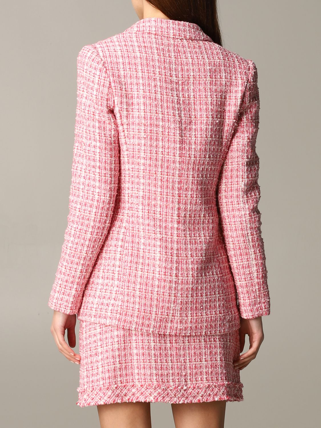 Be Blumarine double-breasted bouclé jacket pink 3