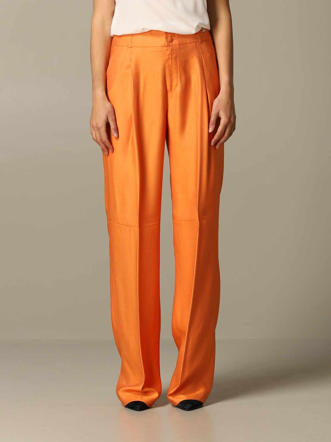 Trousers Be Blumarine: Trousers women Be Blumarine orange 1