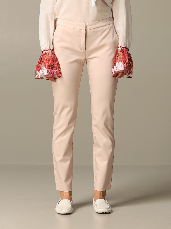 Trousers Be Blumarine: Trousers women Be Blumarine blush pink 1