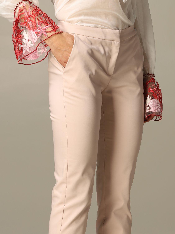 Trousers Be Blumarine: Trousers women Be Blumarine blush pink 3