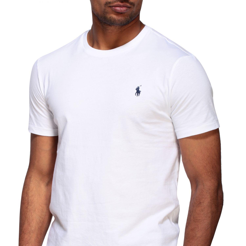 T-shirt Polo Ralph Lauren a girocollo con logo bianco 5