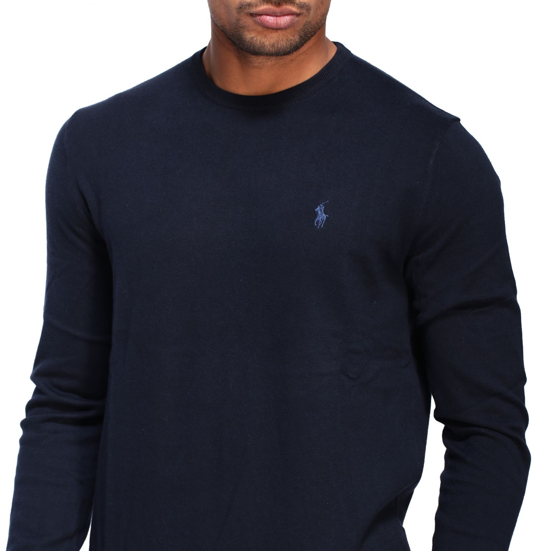 Maglia Polo Ralph Lauren a girocollo con logo blue 5