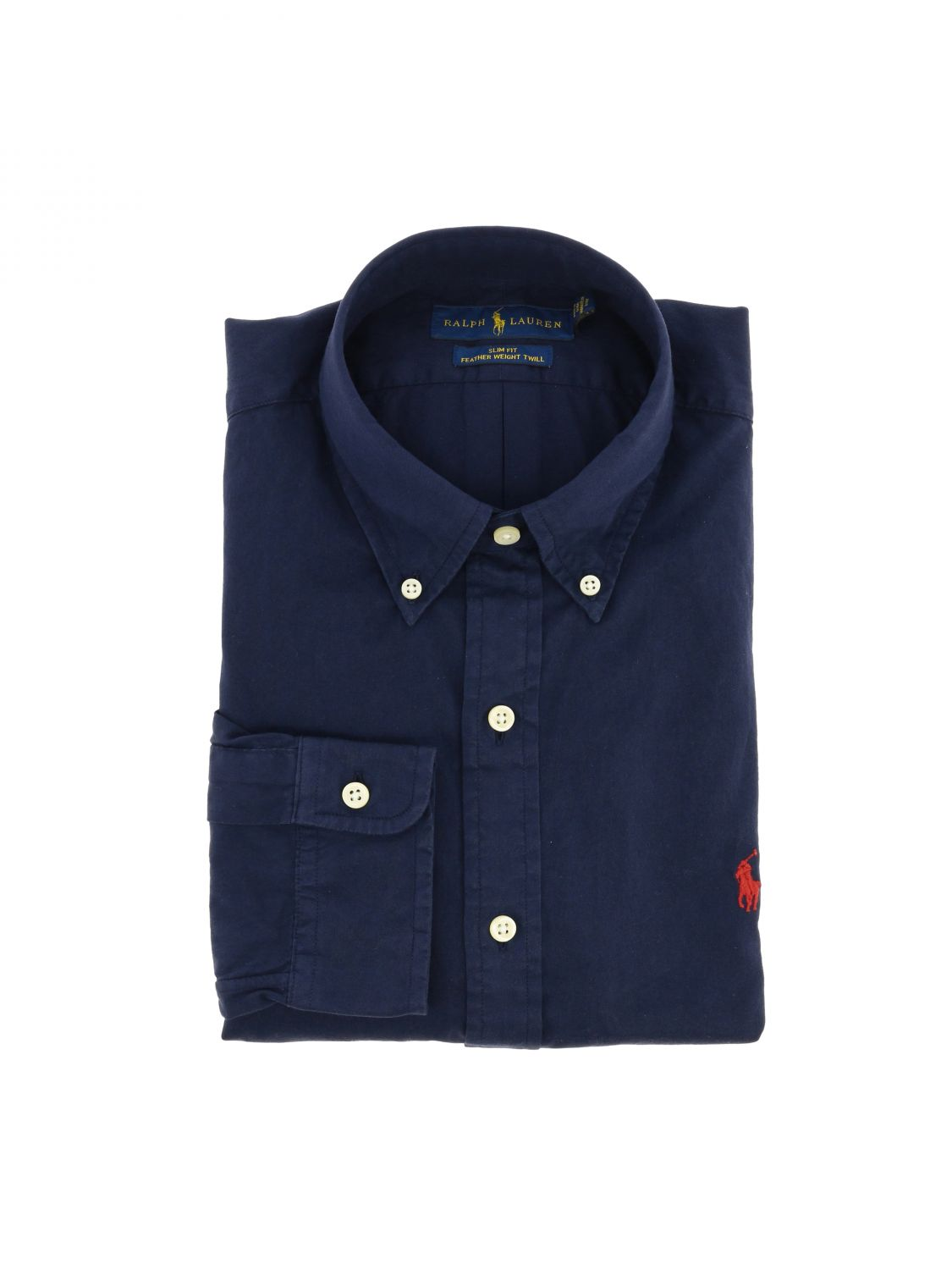 Camicia Polo Ralph Lauren in cotone con collo button down blue 1