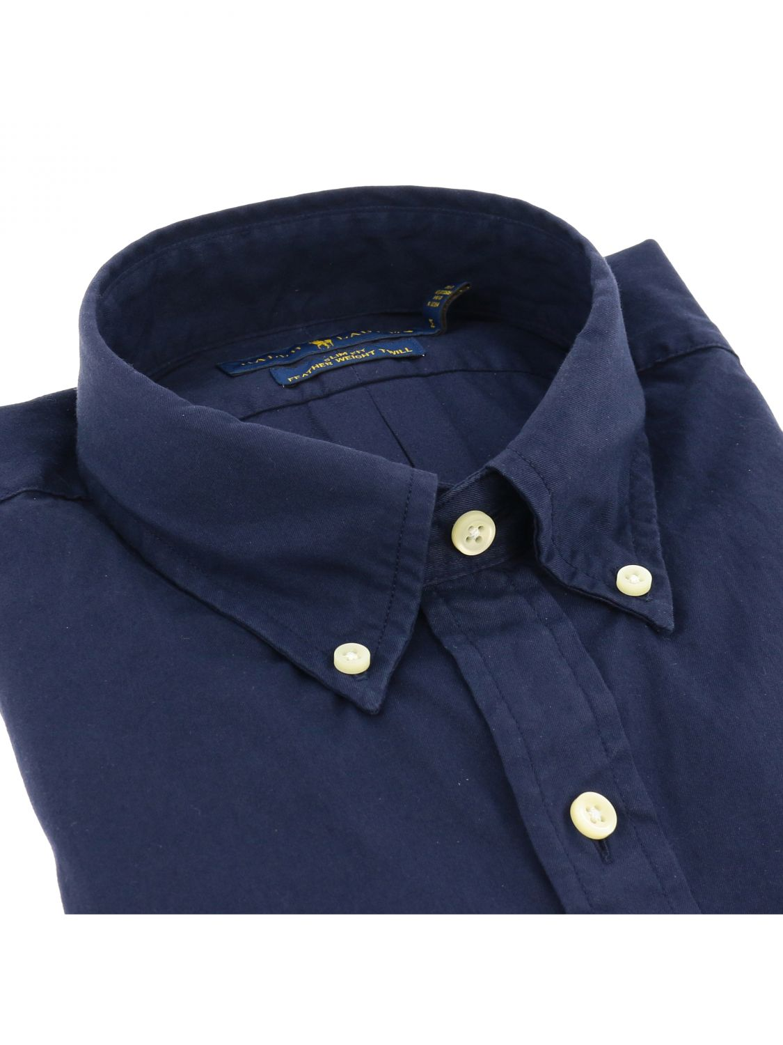Camicia Polo Ralph Lauren in cotone con collo button down blue 2
