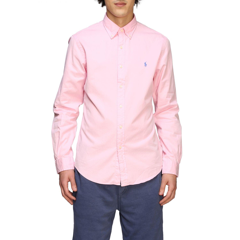 Camisa hombre Polo Ralph Lauren rosa 1