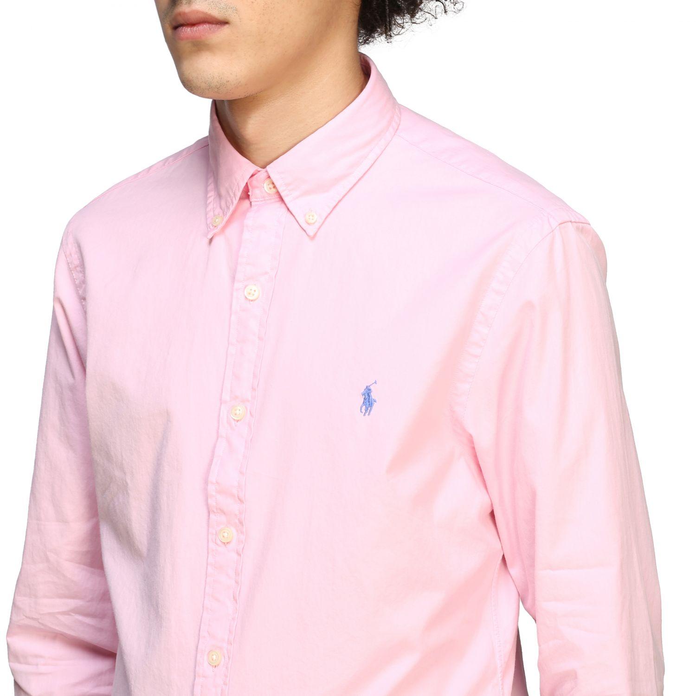 Camisa hombre Polo Ralph Lauren rosa 4