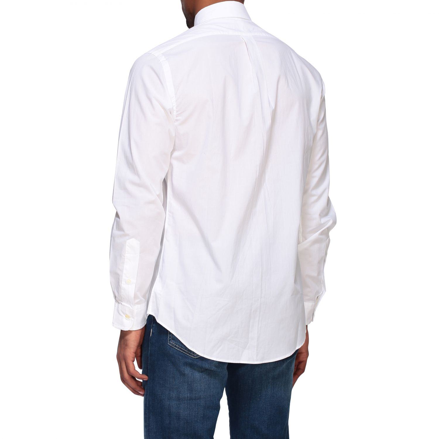 Camicia Polo Ralph Lauren in popeline con collo button down bianco 3
