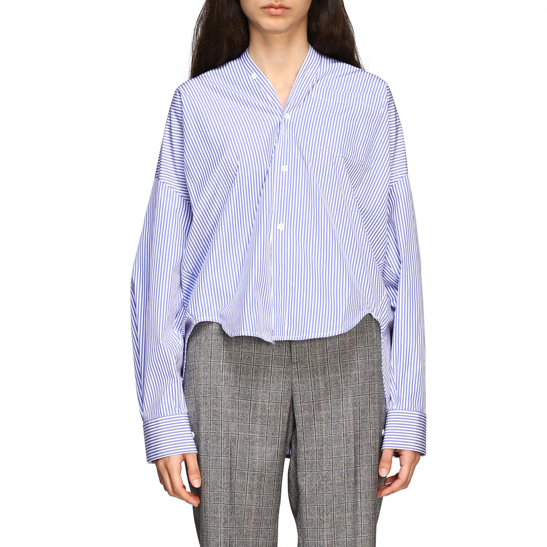 Chemise Balenciaga: Chemise New swing Balenciaga avec logo au dos bleu azur 1