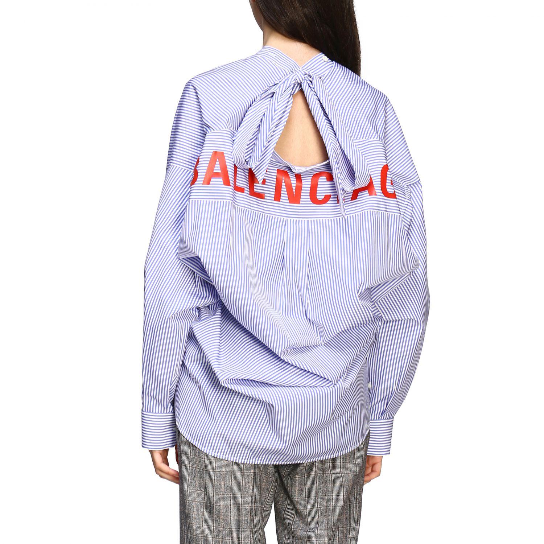 Chemise Balenciaga: Chemise New swing Balenciaga avec logo au dos bleu azur 2