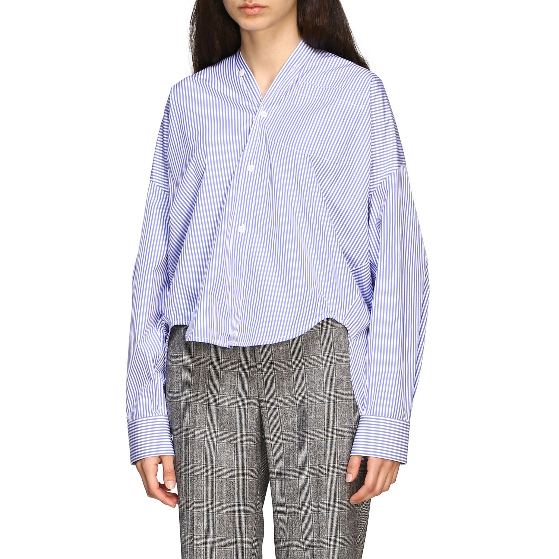 Chemise Balenciaga: Chemise New swing Balenciaga avec logo au dos bleu azur 3